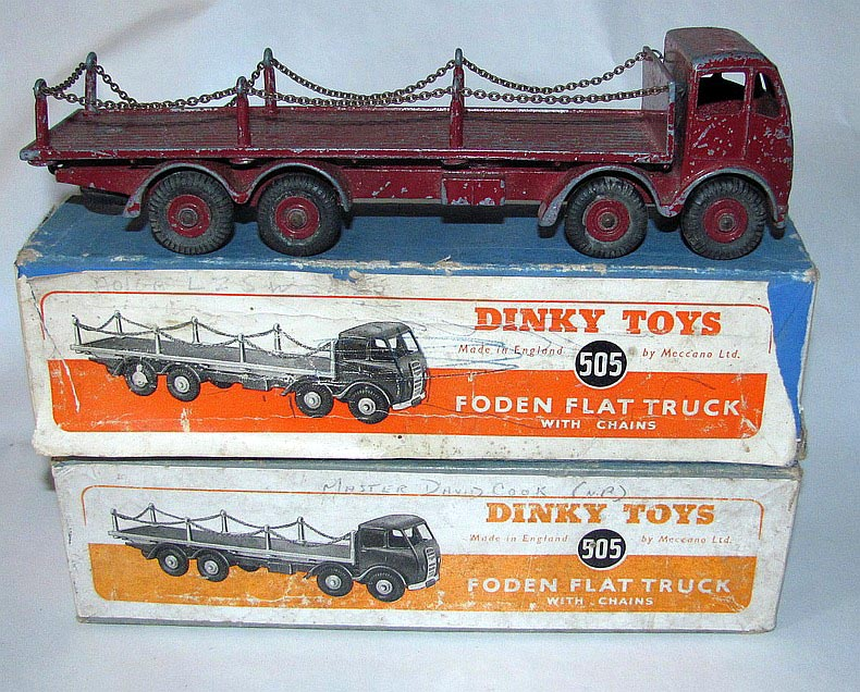 Used Toys Website : And foden flat truck with chains dtca